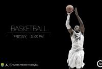 School Basketball Extracurricular Flyer Design